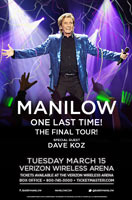 Barry Manilow 2016 Tour Admat Jefferson Wood